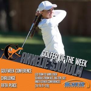 Annie golfer of the week